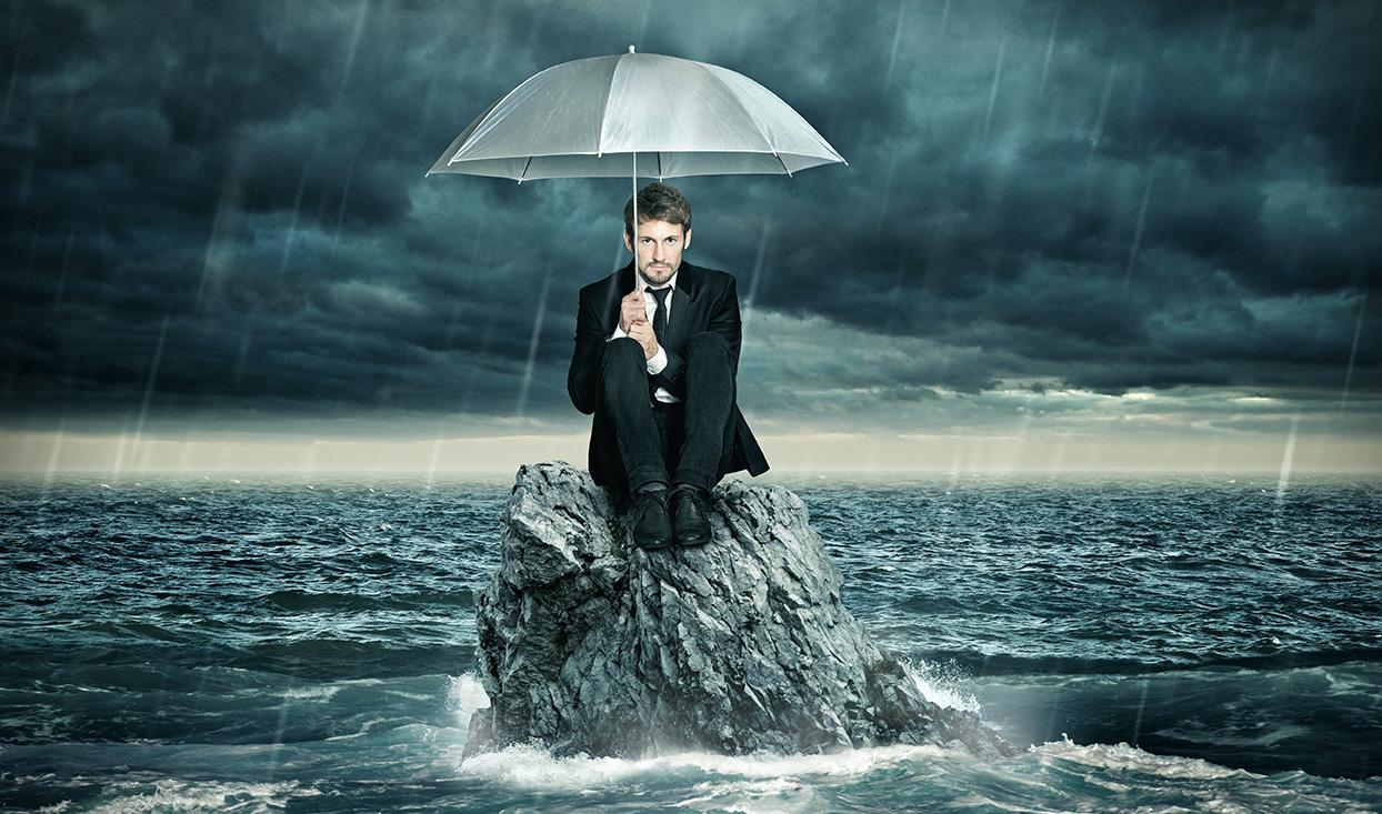 A força na hora da tempestade